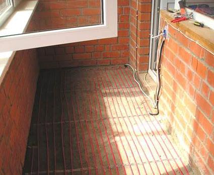 Теплый пол на лоджии и балконе.